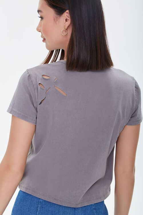 Distressed Cotton-Blend Tee, image 3