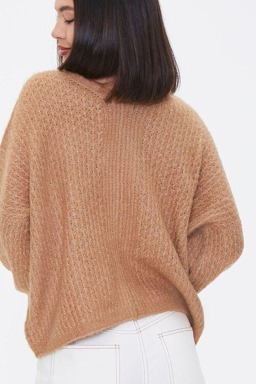 Open-Knit V-Neck Sweater, image 3