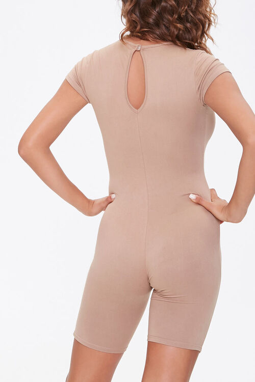 Fitted Short-Sleeve Romper, image 3