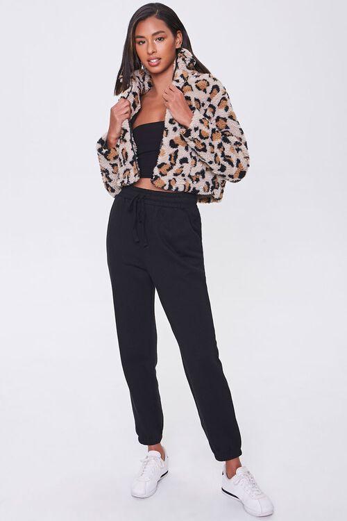 Faux Shearling Leopard Print Jacket, image 4