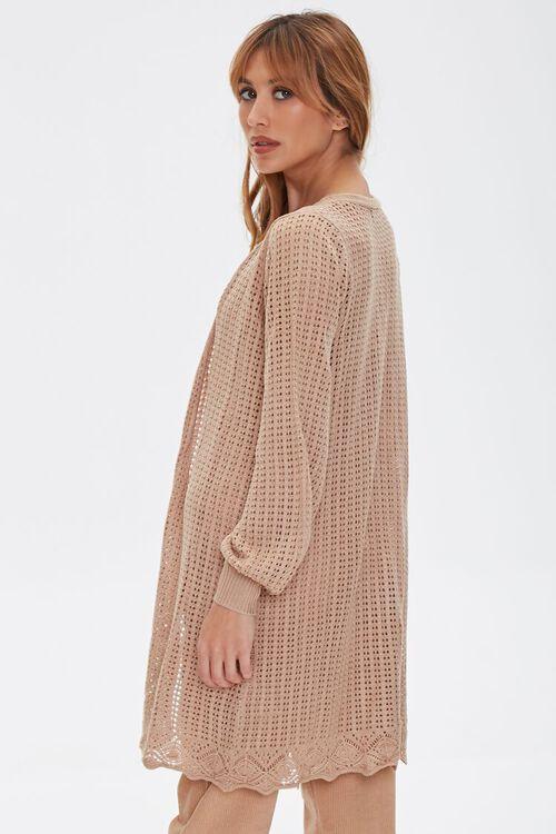 TAUPE Geo Cutout Cardigan Sweater, image 2
