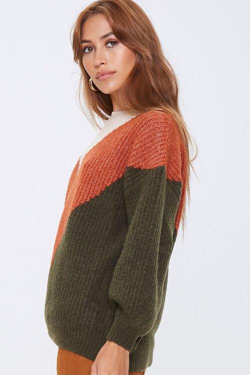 Colorblock Chevron Sweater, image 2