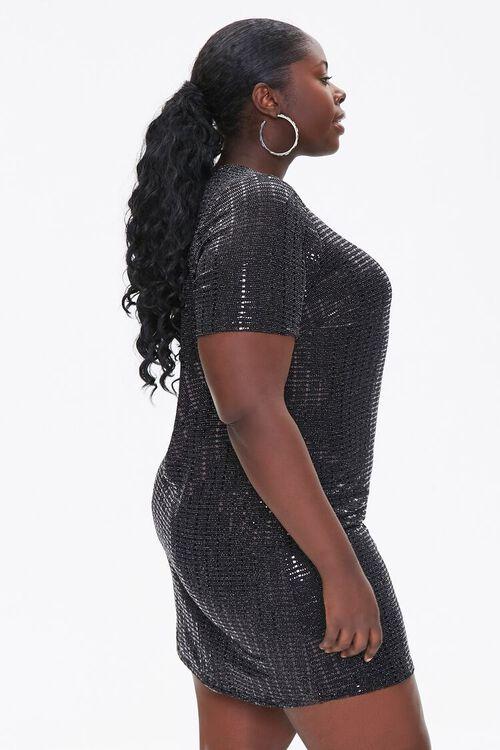 Plus Size Sequin Mini Dress, image 2