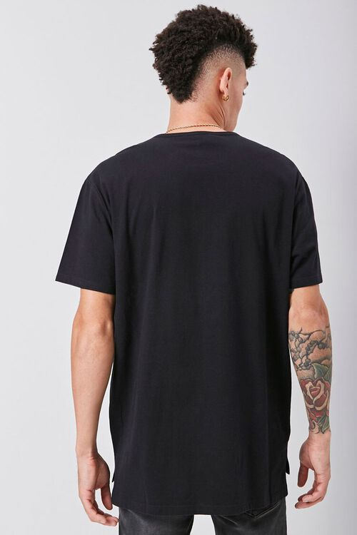 Vented High-Low Crew Neck Tee, image 3