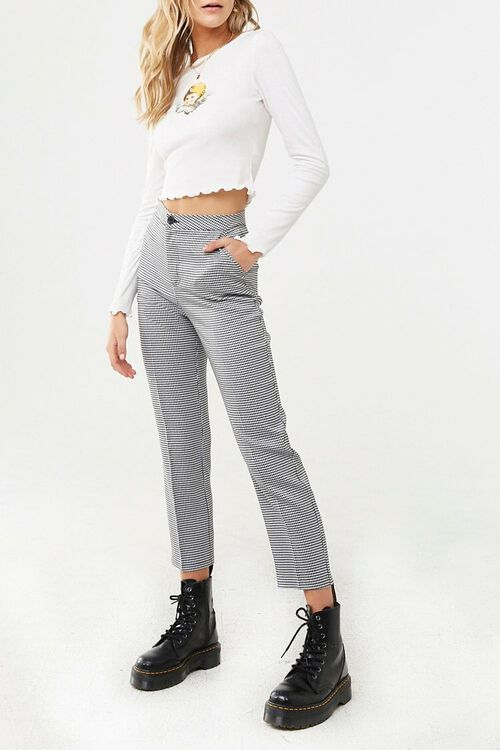 Houndstooth Ankle Pants, image 1