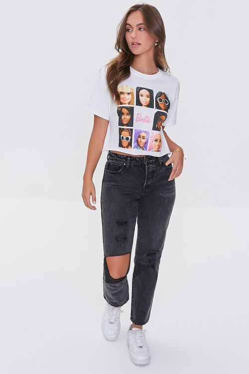 WHITE/MULTI Barbie™ Graphic Cropped Tee, image 4