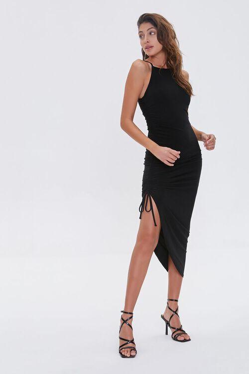 Ruched Drawstring Cami Dress, image 1