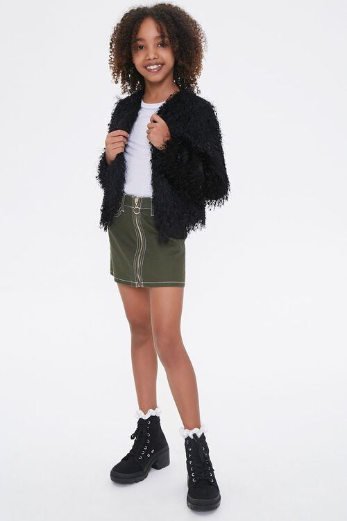 Girls Shaggy Knit Jacket (Kids), image 4