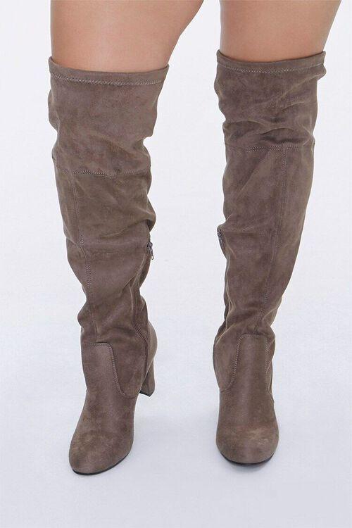 Over-the-Knee Block Heel Boots (Wide), image 4
