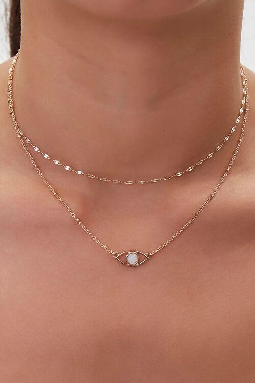 Layered Eye Charm Necklace, image 1