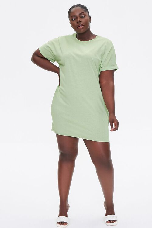 Plus Size Cuffed T-Shirt Dress, image 4