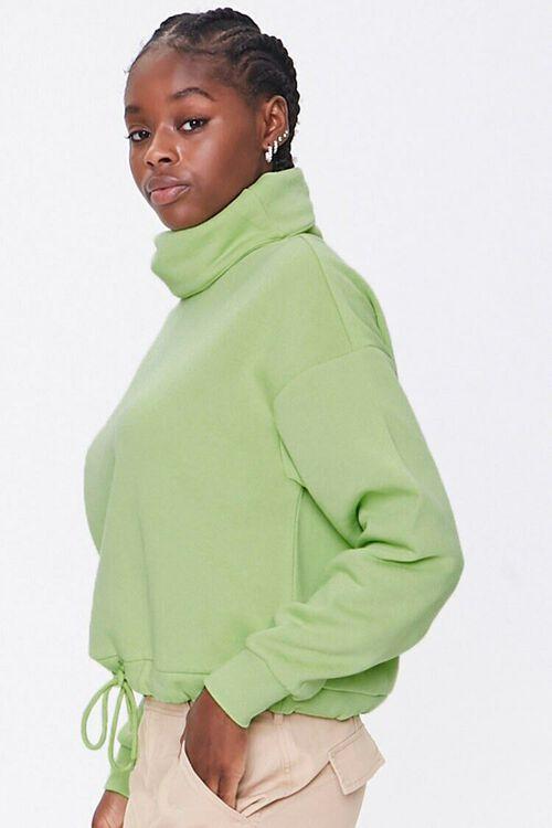 Fleece Turtleneck Sweater, image 2