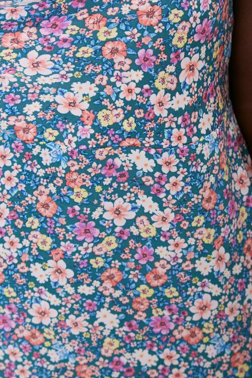 Plus Size Floral Print Crisscross Dress, image 5