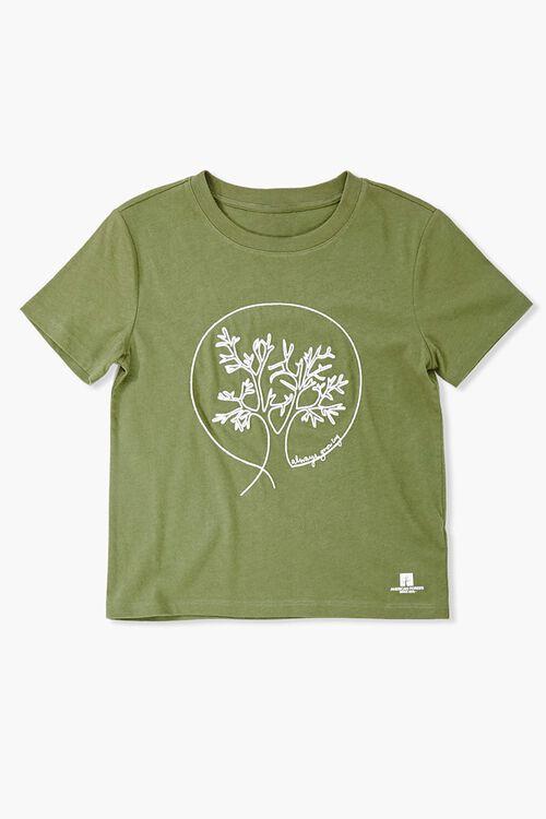 Girls American Forests Always Growing Tee (Kids), image 1