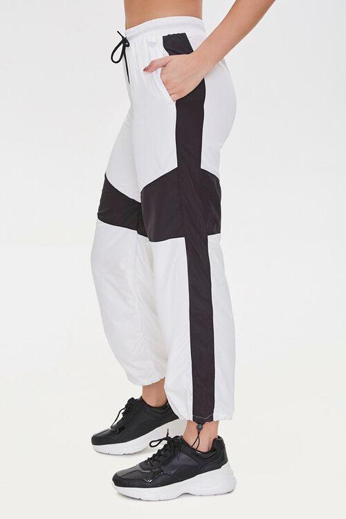 BLACK/WHITE Colorblock Windbreaker Pants, image 3