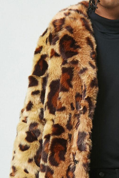 Leopard Print Faux Fur Coat, image 5