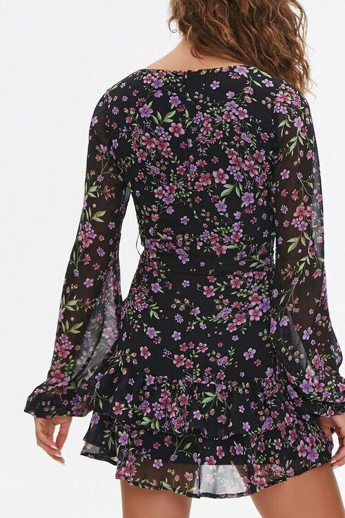 Floral Print Mini Dress, image 3