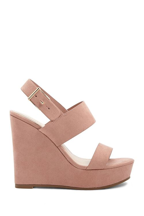 Faux Suede Wedges, image 1