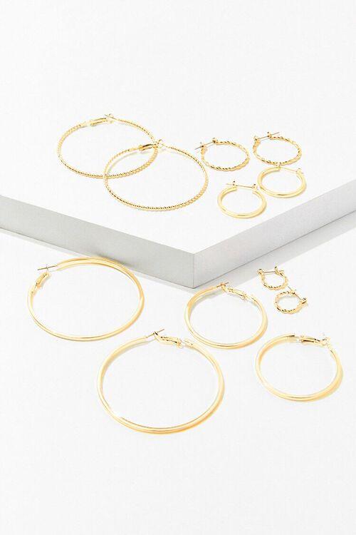 GOLD Assorted Hoop Earring Set, image 1