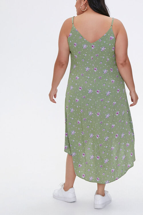 Plus Size Floral High-Low Dress, image 3