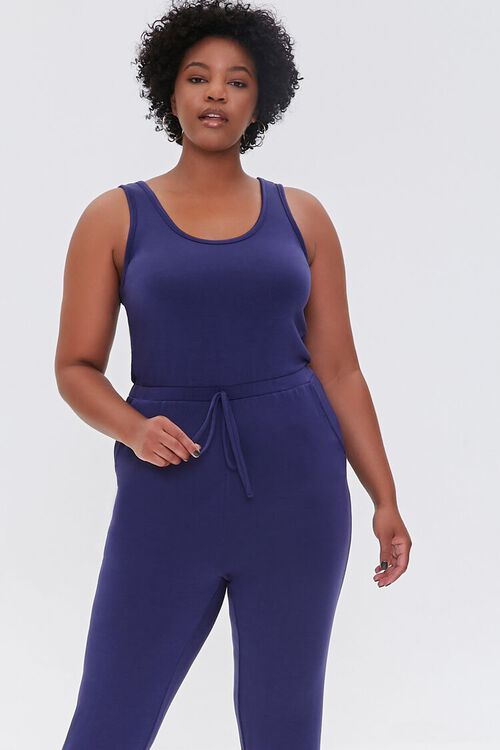 Plus Size Fleece Tank Jumpsuit, image 4