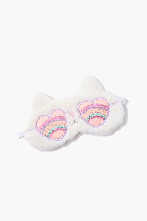 Rainbow Sunglasses Cat Eye Mask, image 1
