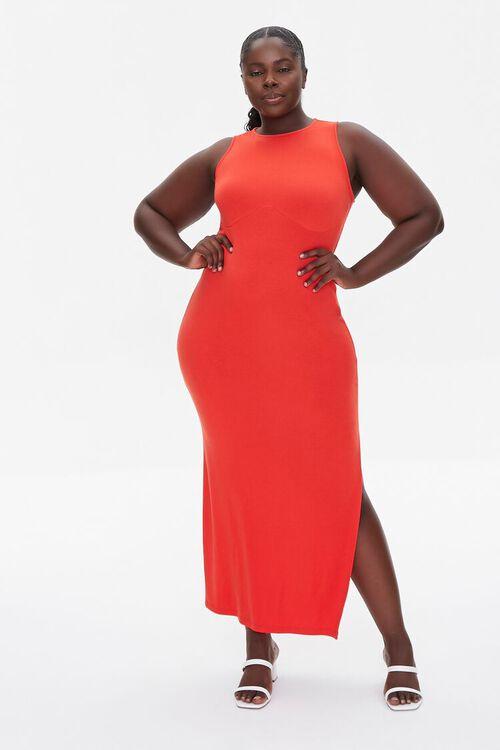RED Plus Size Maxi Tank Dress, image 4