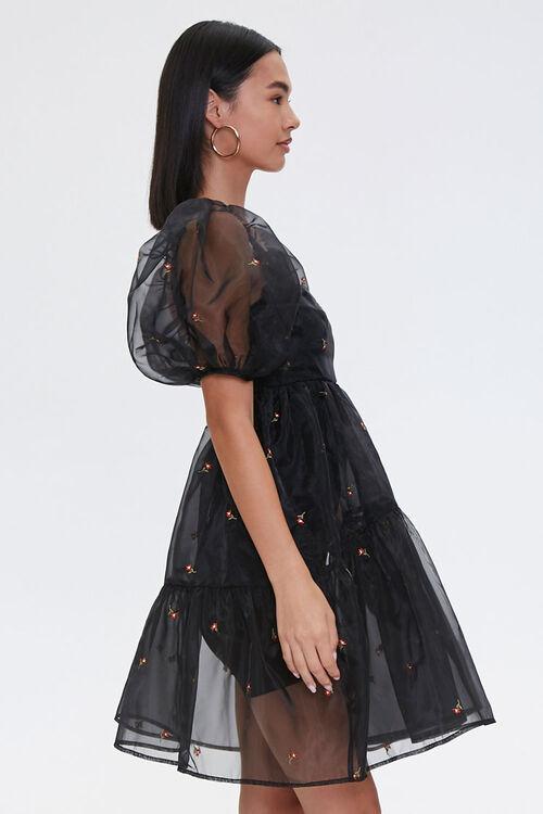 Sheer Floral Embroidered Dress, image 2