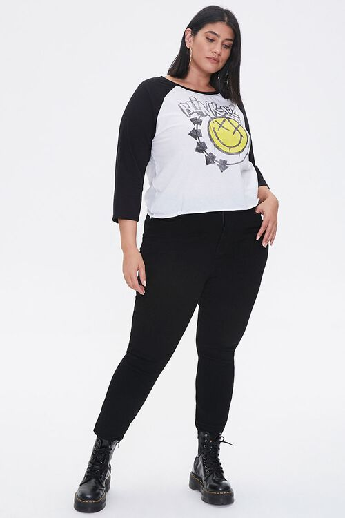 WHITE/BURGUNDY Plus Size Blink 182 Graphic Tee, image 4