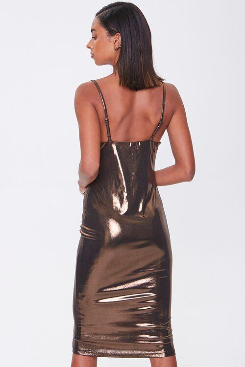 Metallic Cowl Neck Dress, image 3