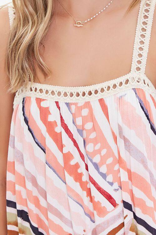 Crinkled Striped Crochet-Trim Dress, image 5