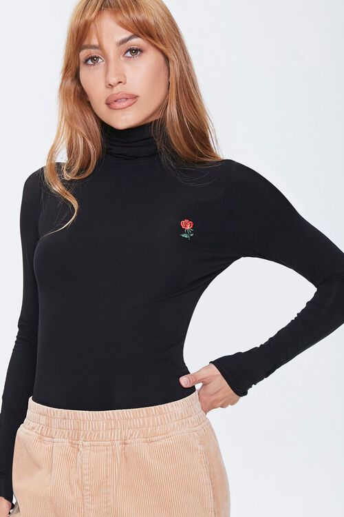 Rose Embroidered Graphic Top, image 1