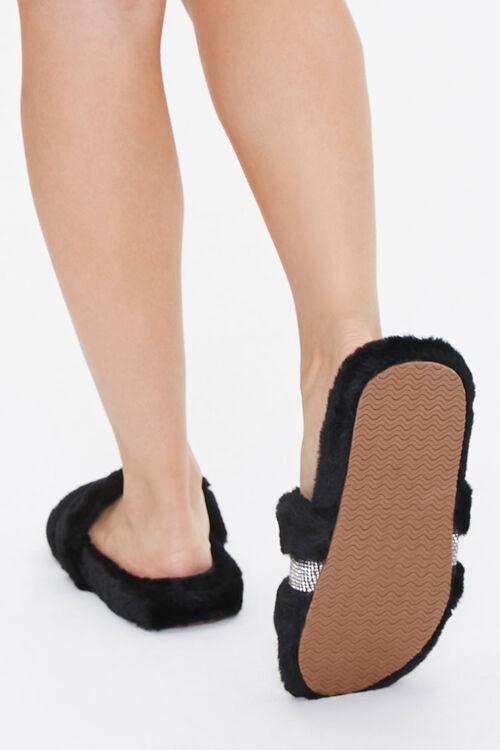 Plush Rhinestone Slippers, image 3