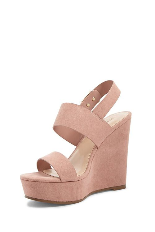Faux Suede Wedges, image 4