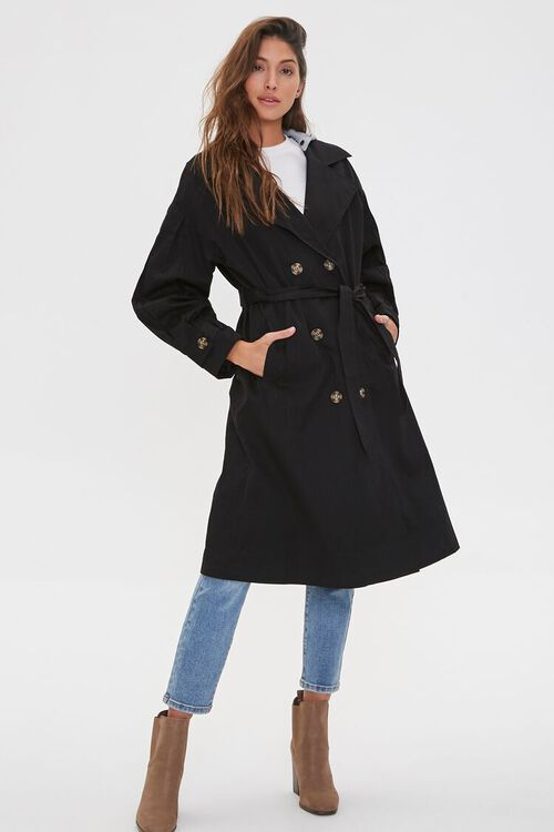 Hooded Double-Breasted Trench Coat, image 2