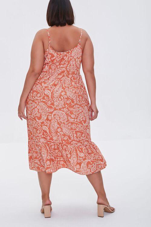 ROSE/MULTI Plus Size Ornate Print Cami Dress, image 3