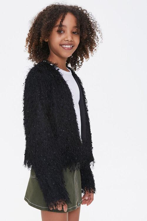 Girls Shaggy Knit Jacket (Kids), image 2