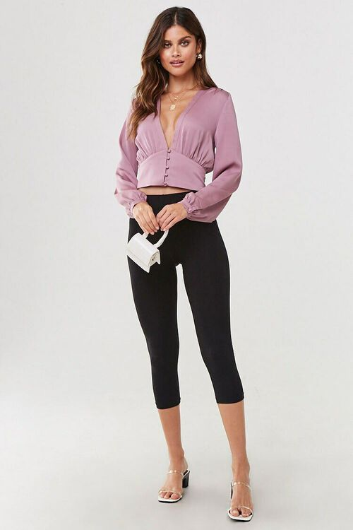 Plunging Button-Front Top, image 4