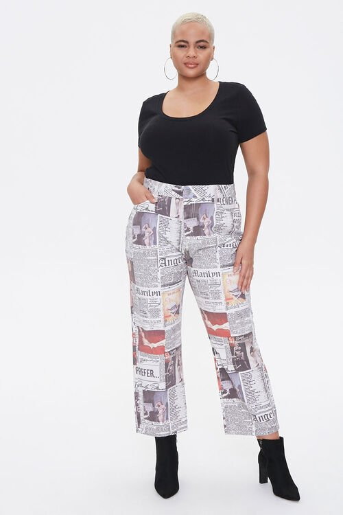 Plus Size Marilyn Monroe Cropped Jeans, image 1