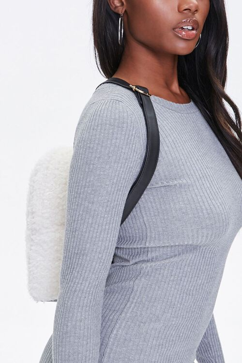 Faux Shearling Backpack, image 2