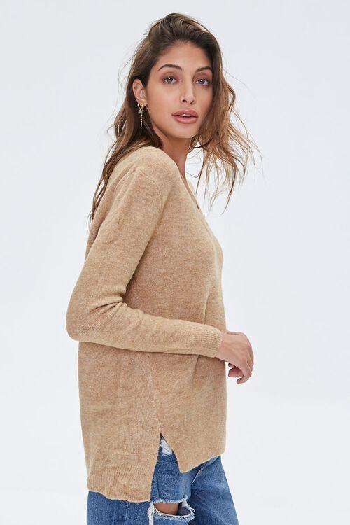 Marled V-Neck Sweater, image 2
