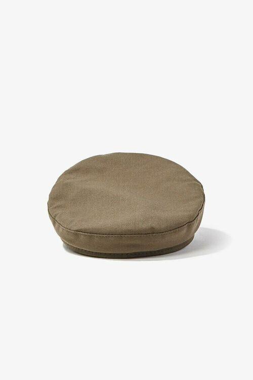 Faux Leather Trim Cabbie Hat, image 3