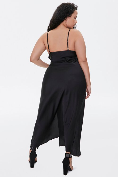 Plus Size Satin Cami Maxi Dress, image 3