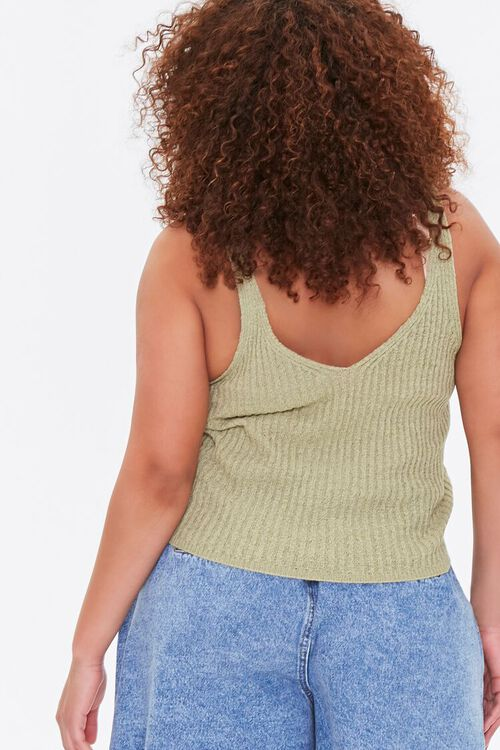 Plus Size Sweater-Knit Tank Top, image 3