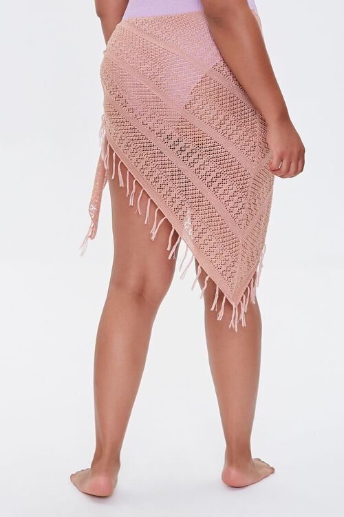 Plus Size Crochet Sarong Swim Cover-Up, image 4