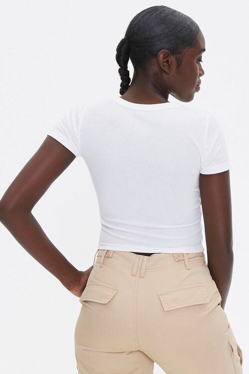 Ribbed Lace-Up Tee, image 3