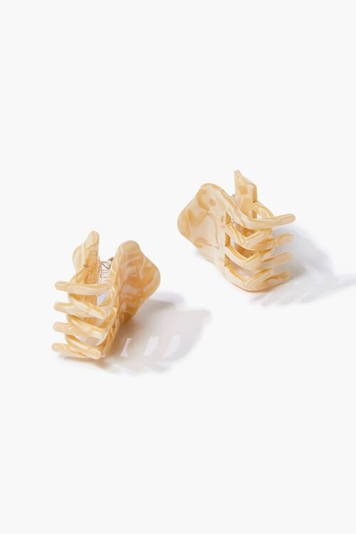CREAM Marbled Claw Clip Set, image 2