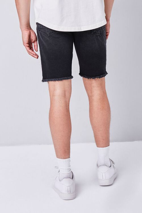 Distressed Frayed Denim Shorts, image 3