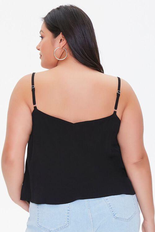Plus Size Button-Front Cami, image 3