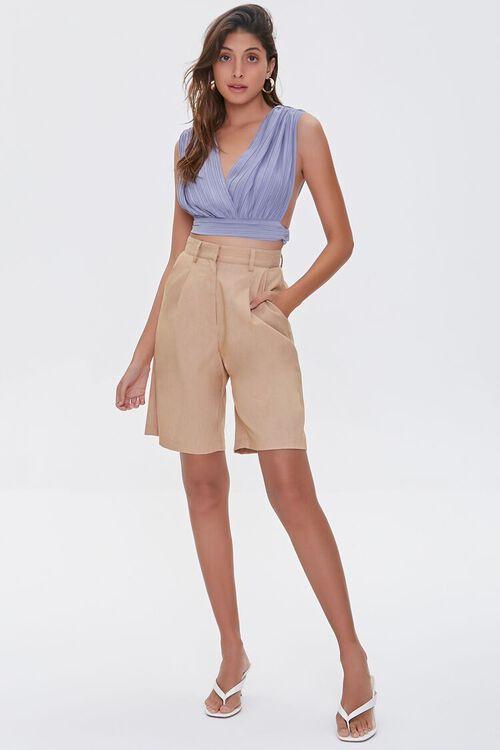 SAND High-Rise Straight-Leg Shorts, image 5